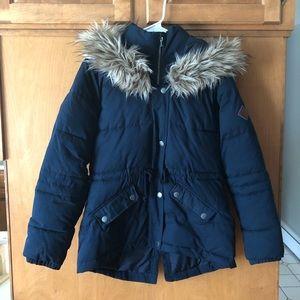Hollister Dark Blue Winter Jacket